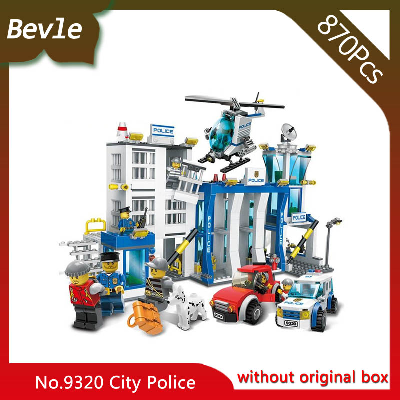 Bevle Store LEPIN 9320 870Pcs City Series Police Headquarters Building Blocks Set Bricks Children For Toys Gudi Boys Gift lepin 02012 city deepwater exploration vessel 60095 building blocks policeman toys children compatible with lego gift kid sets