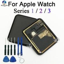 LCD شاشة تعمل باللمس محول الأرقام ل أبل سلسلة ساعة 1 2 3 Series es1 Seires2 Series es3 عرض الأصلي جديد الياقوت 38 مللي متر 42 مللي متر + أدوات
