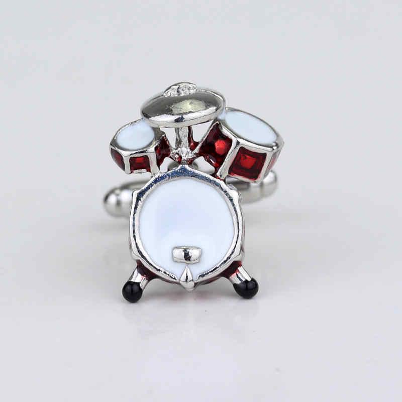 Dongsheng Baru Gaya Klasik Manset Baru Merah Alat Musik Manset 3D Drum Desain Hadiah untuk Pria Pernikahan Perhiasan-40