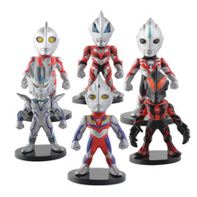 prettyangel genuine bandai tamashii nations s h figuarts exclusive ultraman orb ultraman orb thunder breastar action figure Six kinds Ultraman Tiga Zero Beyond Geed Belial Orb Cake decoration Cute Action Figures PVC Doll Collection Model Toys Gifts