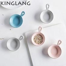 Маленькая миска для соуса макарунового цвета тарелка с ручкой