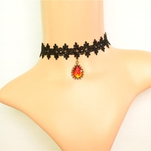 gota de cristal breve cadena de diseo corto de la vendimia collar de mujer accesorios de