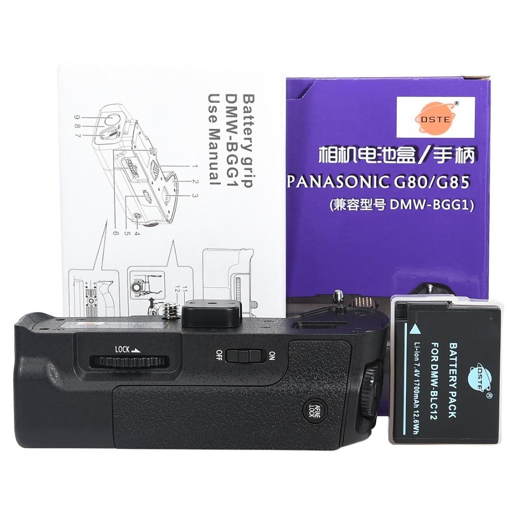 DSTE DMW-BGG1 Vertical Battery Grip for LUMIX DMC-G80 G85 DSLR Cameras+BLC12 Battery Panasonic DMC-G80 DMC-G85 Battery Grip
