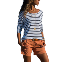New T Shirt Women Striped Long-sleeved Streetwear Clothes 2019 Graphic Tees Tops Mujer Verano Camisetas