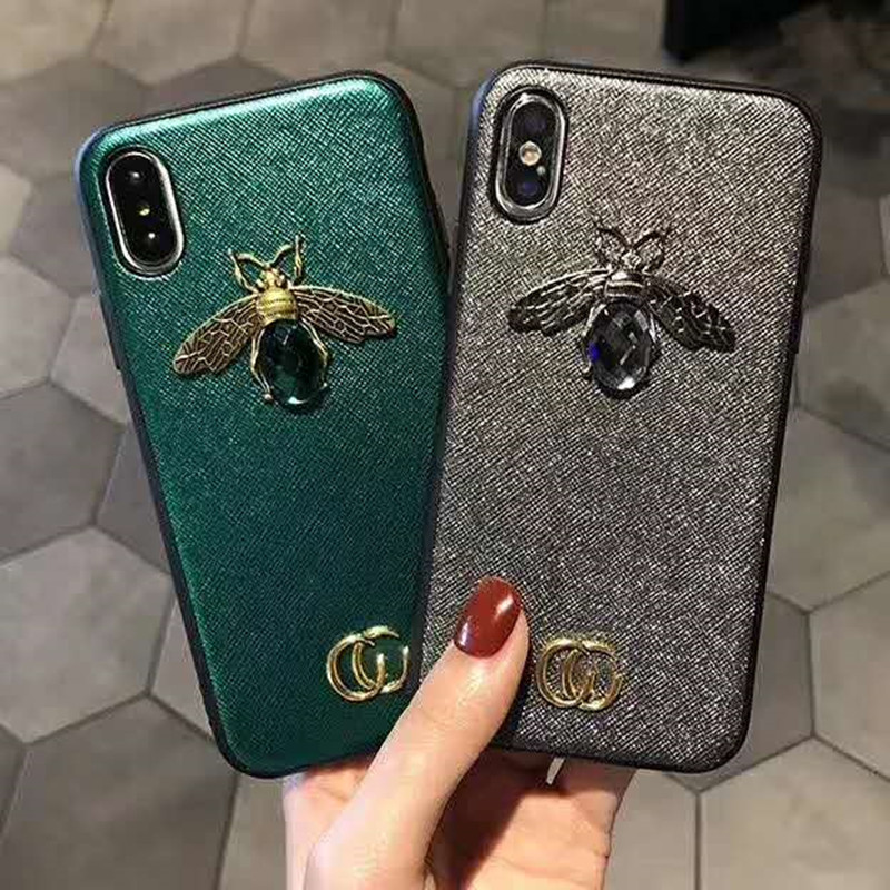 huge selection of 3d98d 11766 US $3.21 | Luxury 3D Bee Phone Case for iphone XS XR MAX TPU Fashion  Printed Designer Womens Protective Cover for iphone X 10 6 7 8 PLUS-in  Fitted ...