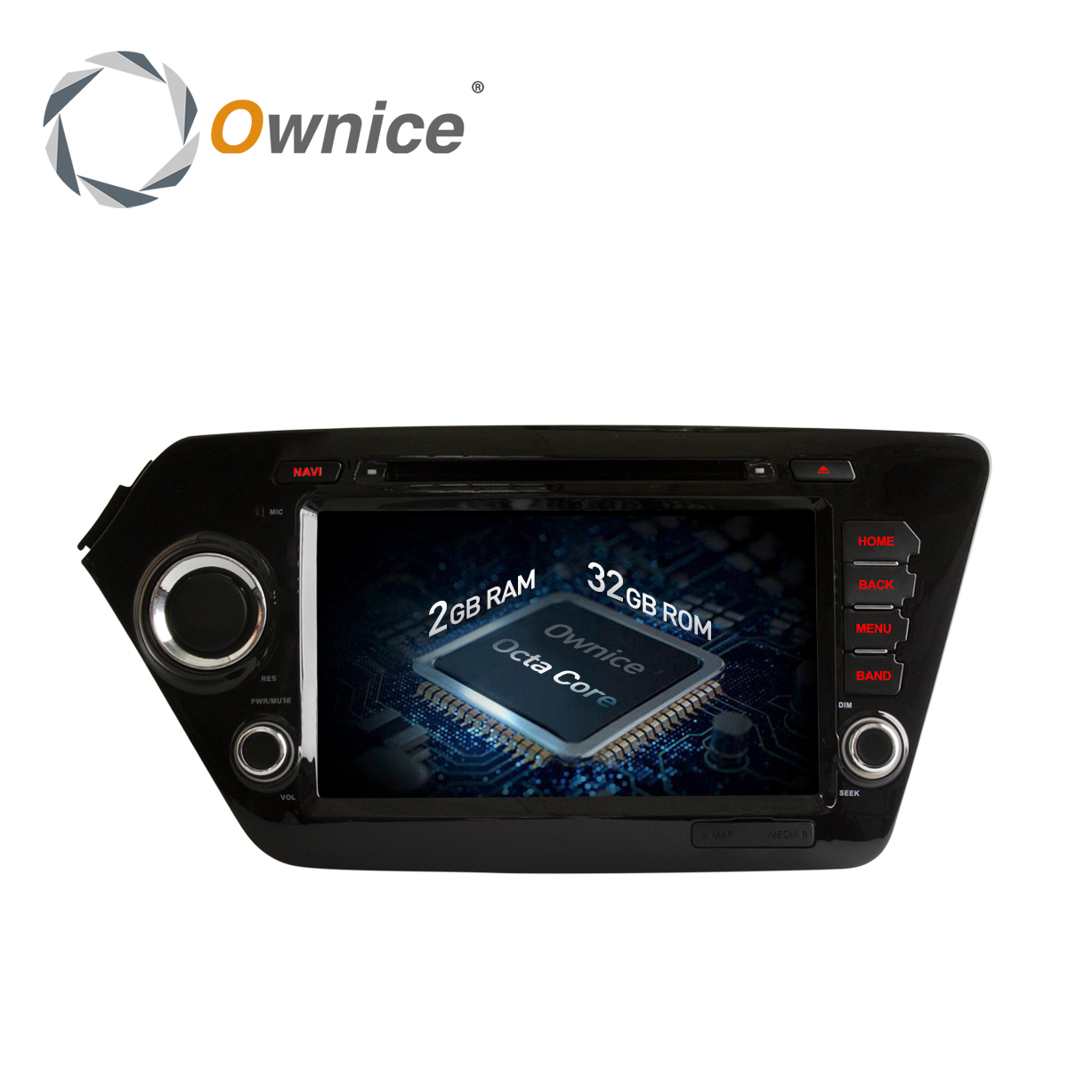 Ownice C500 Octa 8 Core 2GB RAM Android 6.0 Car dvd Radio gps player for Kia rio k2 2010 2011 2012 support wifi 4G LTE Network