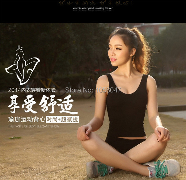 2014 Hot Trendy Skin Black Grey Spandex Women Yoga Sport Shape Body Intimate Underwear Tank Tops
