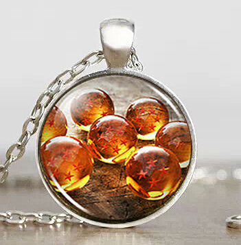 DragonBall Z Anime Cabochon Handmade Fashion Necklace Brass Pendant Jewelry For Women