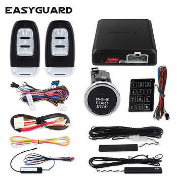 EASYGUARD PKE car alarm kit with remote engine start push button start rolling code Touch password keyless entry security alarm - DISCOUNT ITEM  22% OFF All Category