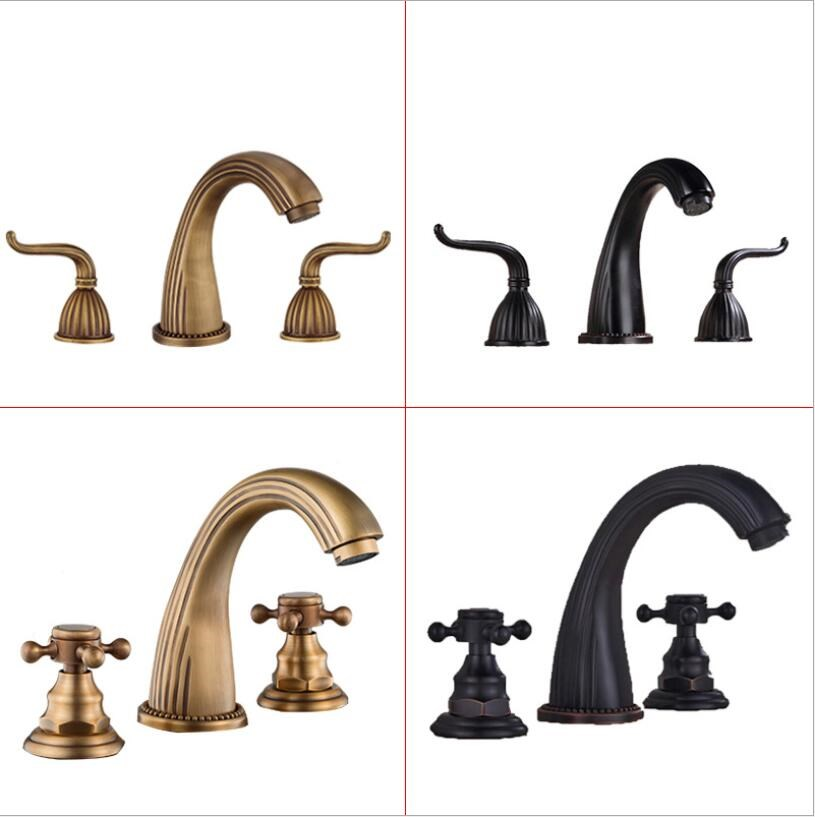 Bathroom Mixer 8 inch Widespread Three Holes Sink faucet brass basin faucet,tap mixer Free ShippingBathroom Mixer 8 inch Widespread Three Holes Sink faucet brass basin faucet,tap mixer Free Shipping