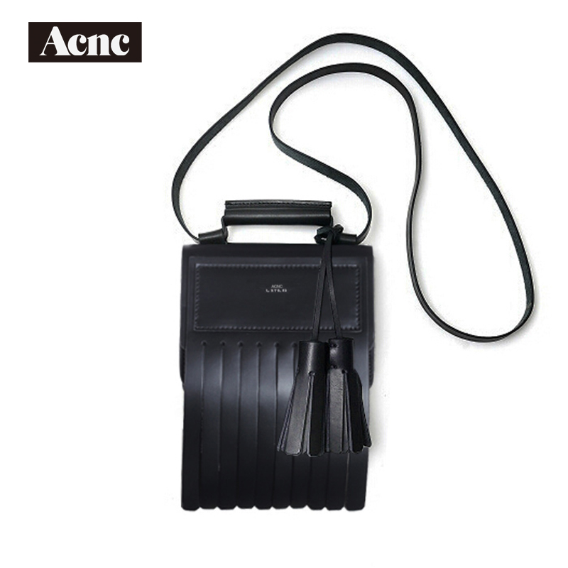 Acnc legend genuine leather tassel flap bag ,women real leather tassel shoulder bag,Acne hadbag,free shipping yuanyu 2018 new hot free shipping real python leather women clutch women hand caught bag women bag long snake women day clutches