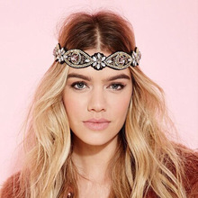 Fashion Women's Headwears Gorgeous DIY Diamond Bandanas Wedding Party Hair Accessories  Attractive Hair Clips for Pretty Ladies