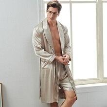Xifenni сексуальный шелковый мужской спальный халат шорты наборы Весна атласный шелк пижамы мужские с длинным рукавом искусственный шелк халаты 2824