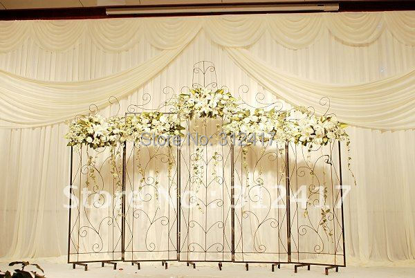 Top Ing 3 6m Solid White Wedding Curtain Backdrop With Ice Silk