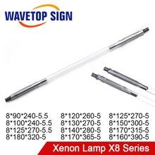 WaveTopSign lazer Xenon lamba X8 serisi kısa ark lambası q switch Nd Flash darbeli ışık YAG Fiber kaynak kesme