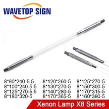Wavetopsign lâmpada x8 série de x8 lâmpada de arco curto q switch nd flash luz pulsada para corte de solda de fibra yag
