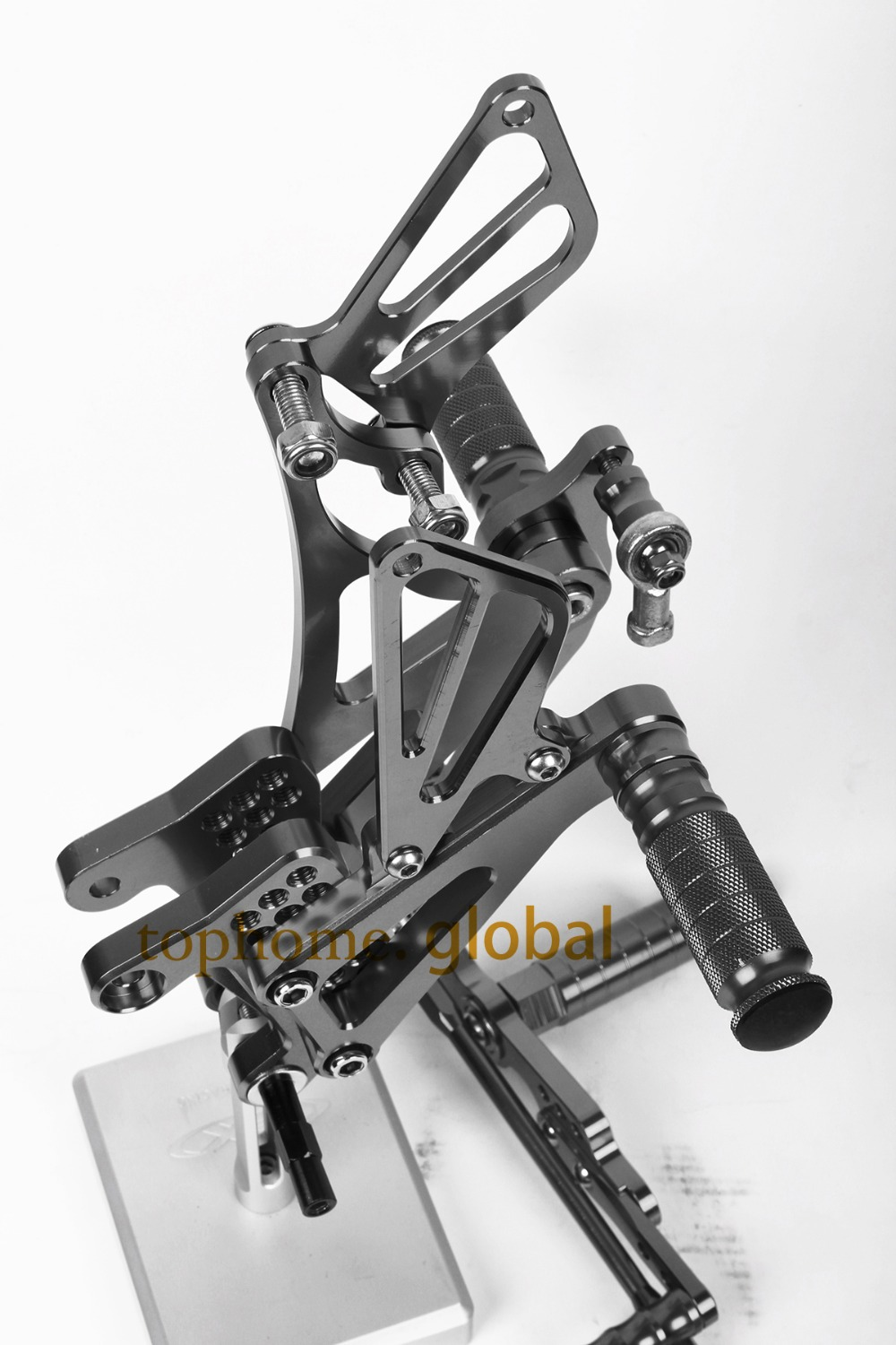 Motorcycle Dark Grey CNC Rearsets Foot Pegs Rear Set For Yamaha YZF R1 2007-2008 motorcycle foot pegs free shipping motorcycle parts silver cnc rearsets foot pegs rear set for yamaha yzf r6 2006 2010 2007 2008 motorcycle foot pegs
