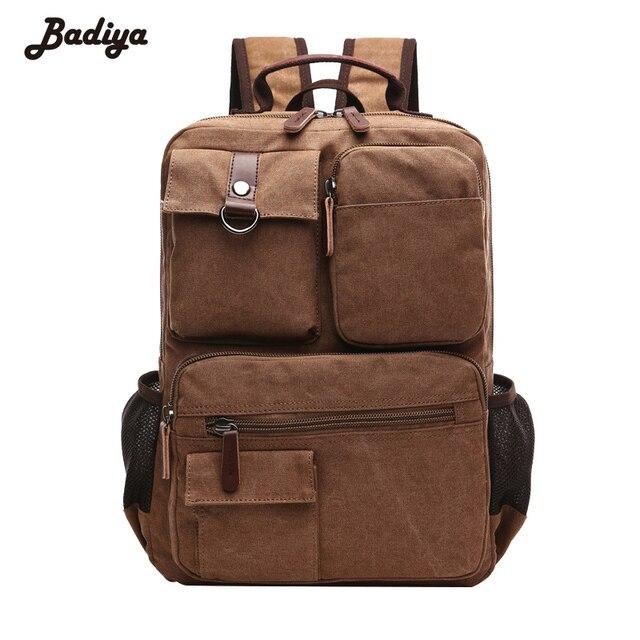 d64edd192f2 Vintage Men s Backpacks High Quality Canvas Multi-Functional Large Travel  Mochilas Male Knapsack Shoulder Bag Carteira Masculina