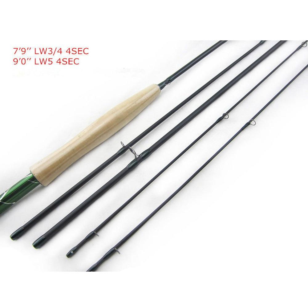 Aventik Carbon fiber 7'9'' LW3/4, 9'0'' LW5, 4sec Freshwater Fly Rods Fly Fishing rod fly fishing combo 5wt 9ft carbon fiber fly rod