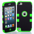 Case híbrido de alto impacto de silicona suave cubierta para apple ipod touch 5 case cubierta shiping libre