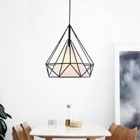 Bird Cage Pendant Light Iron Geometric Shape Ceiling Lamp Pendant Lamp Modern style