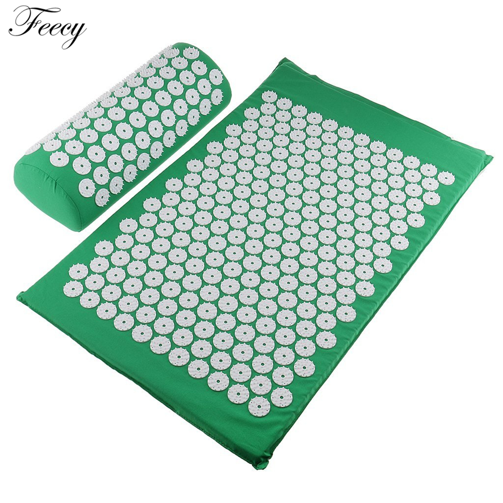 Acupressure Massage Mat Massager Cushion Mat Shakti Relieve Acupressure Mat Body Pain Acupuncture Spike Yoga Mat with Pillow