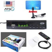 Canada Home Indoor VHF UHF ANTENNA + TERRESTRIAL ATSC TV BOX 1080P HDMI Digital/Analog HDTV Analog TV CONVERTOR HD RECEIVER
