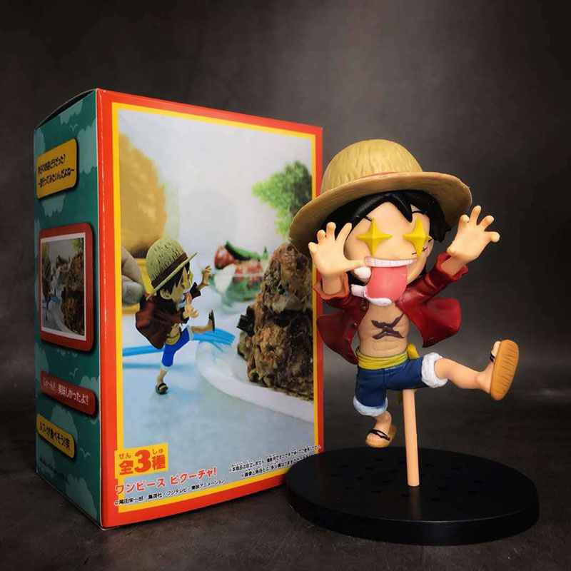 Action & Toy Figures Systematic One Piece Luffy Action Figure 1/8 Scale Painted Figure Star Eyes Scene Ver Monkey D Luffy Pvc Figure Toy Brinquedos Anime Yet Not Vulgar