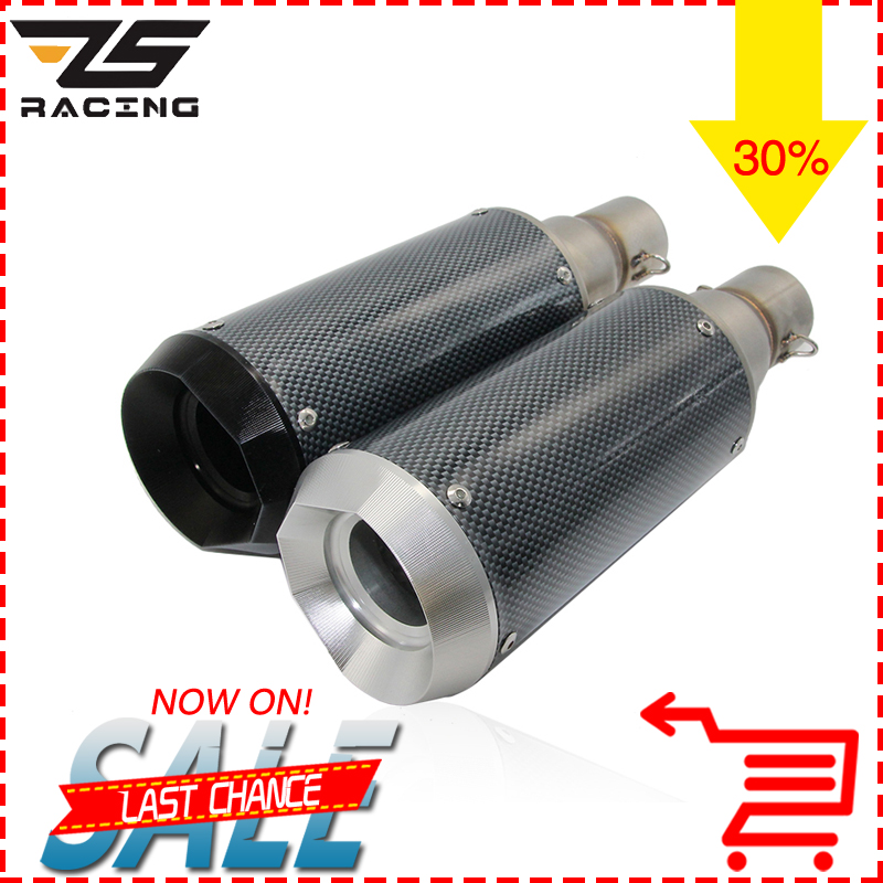 ZSDTRP Modified 51mm Motorcycle Exhaust Pipe SC Muffler For HONDA R1 R6 ZX-6R ZX-10R GSXR Dirt Bike