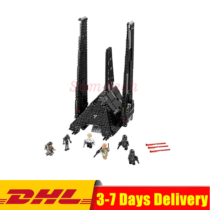 Nova 898Pcs Lepin 05049 Star Series Wars Shuttle Building Blocks Self-locking Bricks DIY Educational Toys Compatible with 75156 lepin 05006 star kylo ren command shuttle lepin building blocks educational toys compatible with 75104 lovely funny toys wars