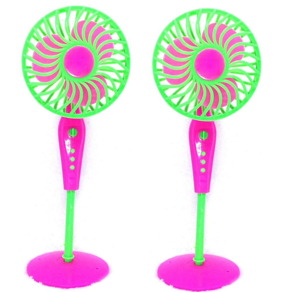 NK 2 Pcs/Set Doll Accessories Baby Toys Mechanical Fan