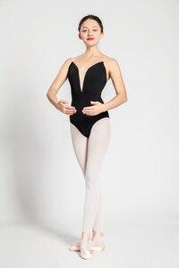 Image 3 - Bale Mayoları Yetişkin Yeni Stil Siyah Seksi Rahat Uygulama Dans Elbise Kadın Jimnastik Leotard Ucuz Bale Dans Giyim