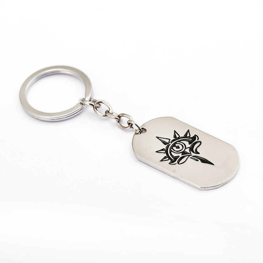12pcs/lot NieR Automata Keychain Dog Tag Silver Key Ring Holder Metal Fashion Car Bag Chaveiro Key Chain Pendant Game Jewelry