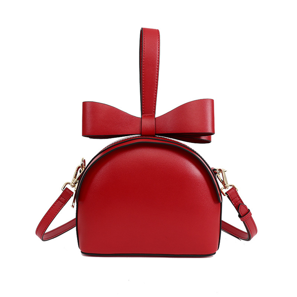 Sweet Style Fashion Design Bow Zipper Crossbody Bag Luxury Brand Split Leather Shoulder Bag Small Messenger Bag for Girls недорого