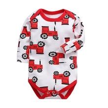 Babies Boys Clothing Bodysuit Newborn Baby Girls Long Sleeve