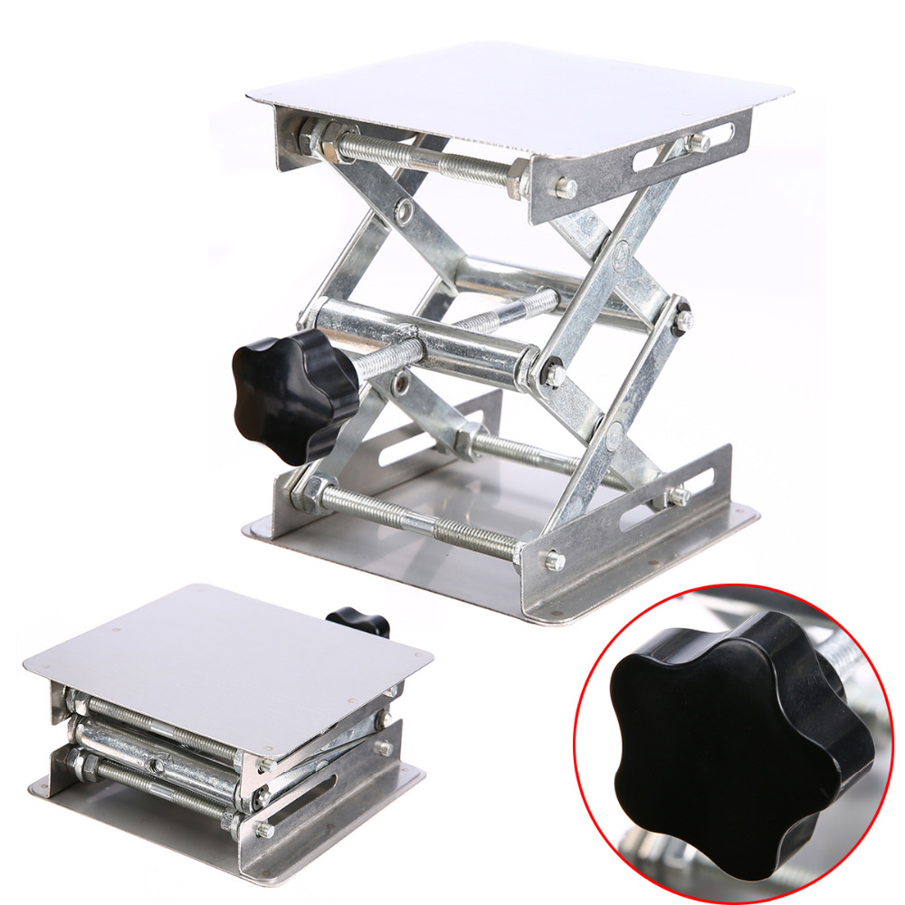 Adjustable Laboratory Lifting Platform High Quality Stainless Steel Lab Scissor Stand Rack 100*100mm laboratory rack multi function physical test support stand base 100x100cm stainless steel