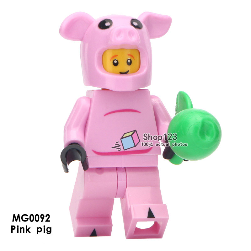 Single Sale Spring Festival Mascot Legoingly Action Figure Pink Pig Boar Animals Building Blocks Bricks Toys For Children T1667 Model Building Toys & Hobbies