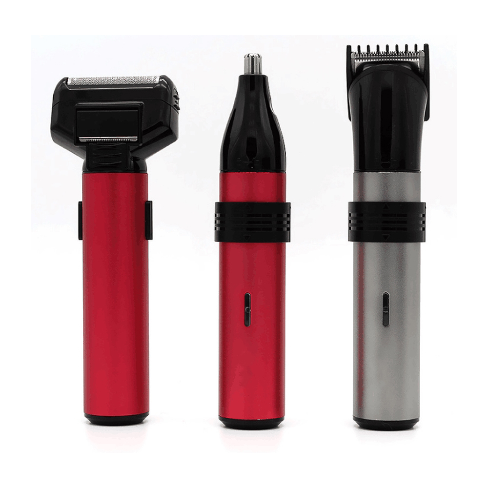 Three in one Suit Men's Electric Reciprocating Razor Nose Hair Trimmer Hair Clipper for Man with Side Burns Knife for Man Beauty