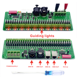 DMX فك 30 قنوات RGB LED قطاع أضواء سائق DMX 512 لا صندوق بلاستيكي تحكم تيار مستمر 9 فولت-24 فولت DMX512 باهتة