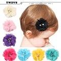 Scrunchces twdvs nuevo bebé pinzas de pelo de los accesorios del tocado de las horquillas horquillas del bebé infant toddler venda de la flor w-211