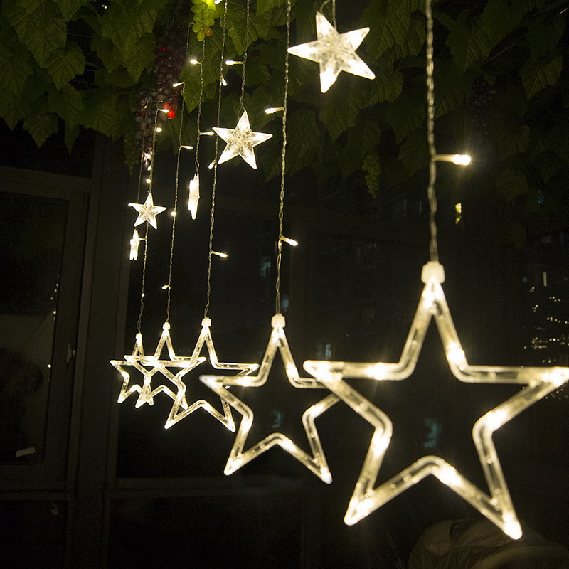 Curtain Fairy Lights 2M*0.6M 138Leds String Light Christmas Wedding Garland <font><b>Outdoor</b></font> Curtain Rope Lamps 4 Colors P20