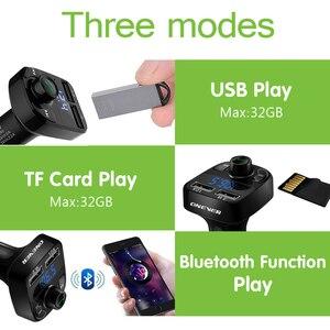 Image 3 - Onever Auto FM Transmitter Aux Modulator Bluetooth Bluetooth Verbindung Lautsprecher Car Kit MP3 Player Adapter mit 5V / 4.1a Schnellladung A2DP Funktion Dual USB Auto Ladegerät Freisprecheinrichtung Smart Charging