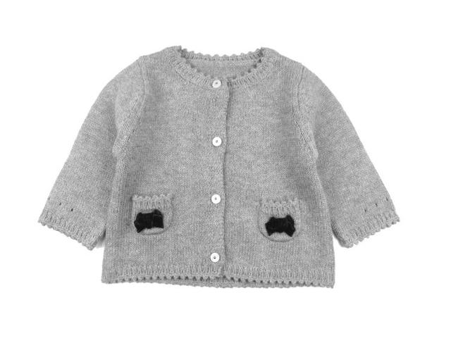 Jacadi 2016 niña niñas niños chaqueta de punto niña suéter otoño tire pour enfant fille meisjes chaleco trui 7