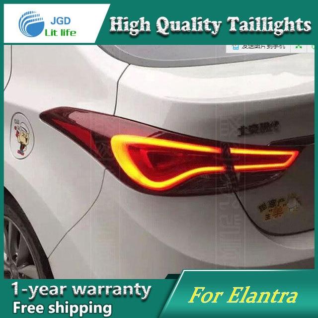 Car Styling Case For Hyundai Elantra Taillights Tail Lights Led Lamp Rear Drl Turn Signal Brake Reverse