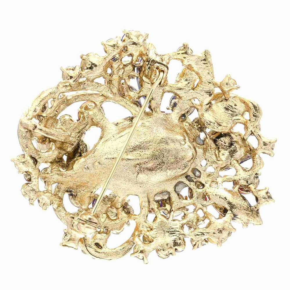 Brooches and Pins Vintage Style Pin Broach Pink Crystal Rhinestone Leaves Flower  Brooch Pendant for Women Accessories 8806173-in Brooches from Jewelry ... effbc9ea5e98