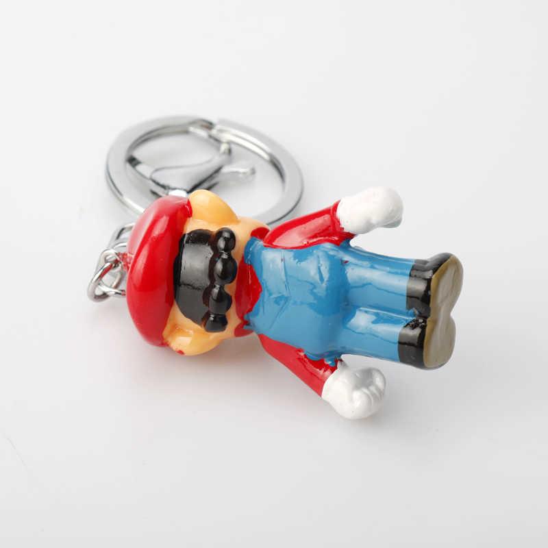 3D سوبر ماريو بروس لويجي ماريو يوشي المفاتيح راتينج بي في سي كارتون منتديات عمل أرقام اللعب سيارة سلاسل المفاتيح للأطفال Brithday هدايا