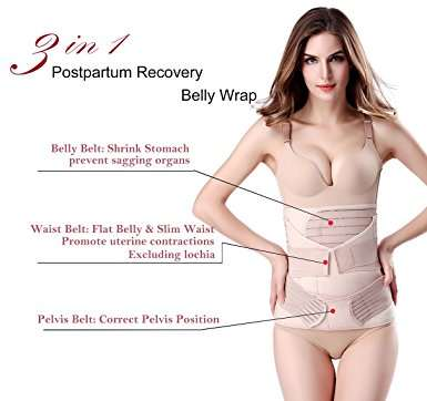 3dffdac619 placeholder 3 In 1 Postpartum Support Recovery Belly Wrap Waist pelvis Belt  Body Shaper Postnatal Shapewear
