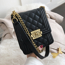 цена на ETAILL Brands PU Leather Diamond Lattice Fashion Plaid Bags Quilted Messenger Bag with Golden Chain Lady Shoulder Crossbody Bag