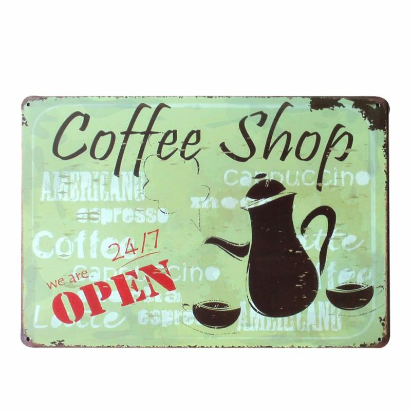 İsti COFFEES Mağazası Retro Metal Qalın Bürc Ev Dekor Bar Bar - Ev dekoru - Fotoqrafiya 3