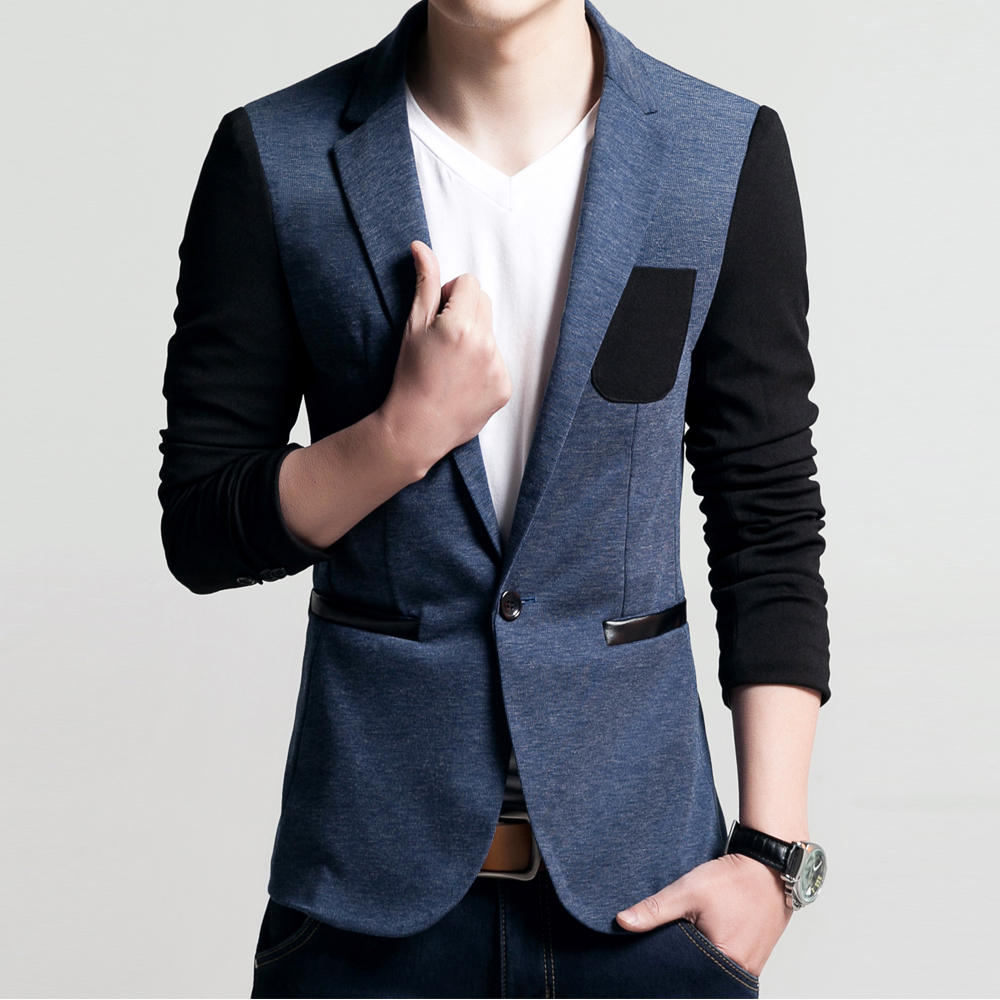 New Suits Men High quality Mens Casual Pocket Design Suits Blazers ...